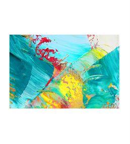 Soyut Mavi Sarı Kanvas Tablo 75x100cm