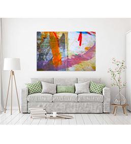 Soyut Rengarenk Kanvas Tablo 75x100cm