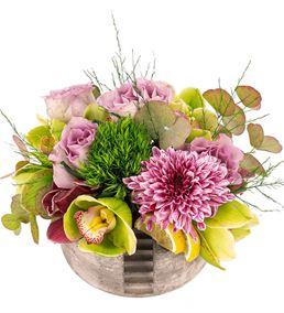 Stairs Serisi Chrysanthem ve Orkide Tasarım Çiçeği