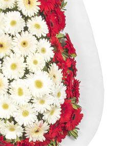 Tatlı Düşler Kırmızı Beyaz Gerbera Kutlama Çelengi
