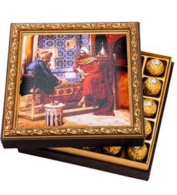 Tavla Çerçeveli Çikolata Kutusu