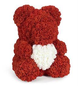 Teddy Bear Rose Kalpli Solmayan Gül (40cm)