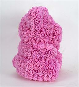 Teddy Bear Rose Pembe Solmayan Gül (40cm)
