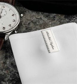 Kişiye Özel İsim Baskılı Gümüş Kaplama Kol Düğmesi
