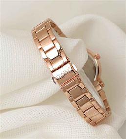 Rose Renk Metal Kordonlu Beyaz Renk İç Tasarımlı Y
