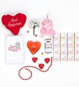 Sevgiliye Doğum Günü Hediyesi Kalp Kutulu Set