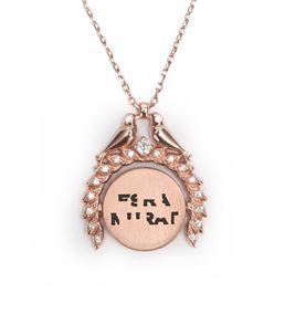 Sevgiliye Hediye İsim Yazılı Sihirli Gümüş Kolye