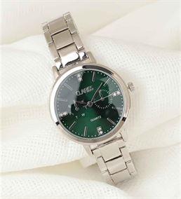 Silver Metal Kordonlu Yeşil Renk İç Tasarımlı Yeni