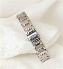 Silver Metal Kordonlu Yeşil Renk İç Tasarımlı Saat