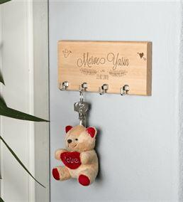 Yeni Evli Çifte Ev Hediyesi Duvar Anahtarlığı