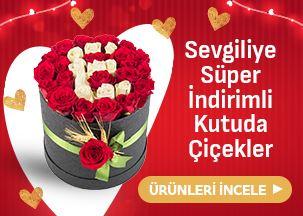 Sevgiliye Süper İndirimli Kutuda Güller