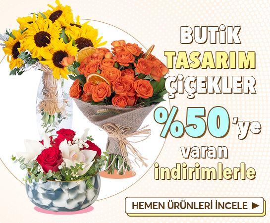 %50'ye Varan İndirimli Tasarım Çiçekler!