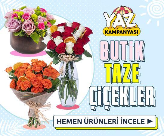 Butik Taze Çiçekler %50 İndirimli Kaçırmayın!