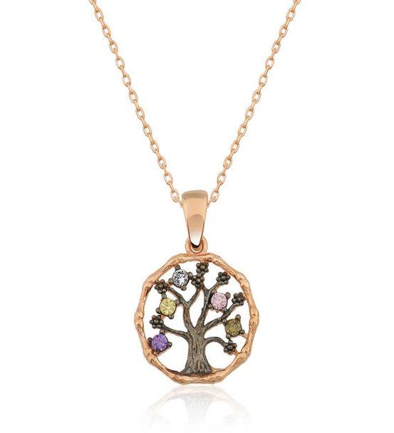925 Ayar Gümüş Küçük Hayat Ağacı Bayan Kolye