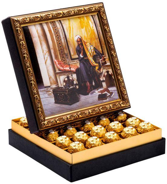 Adam Çerçeveli Çikolata Kutusu