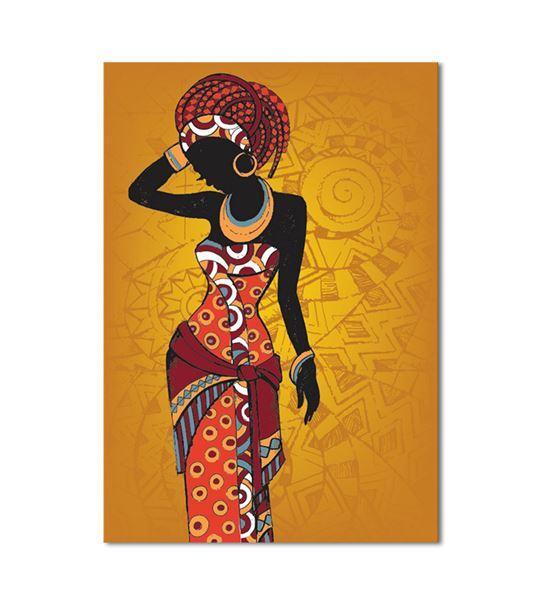 Afrikalı Kadın Kanvas Tablo 60x90cm