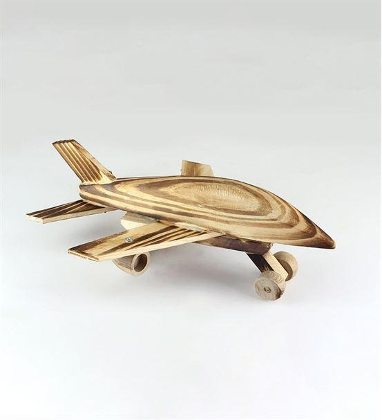 Ahşap Dekoratif Oyuncak Uçak