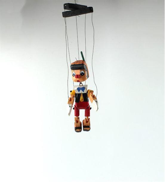 Ahşap Pinokyo İpli Kukla Küçük Boy