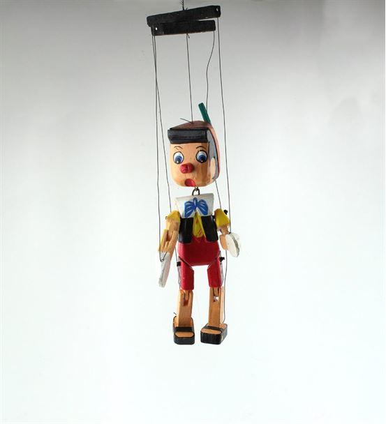 Ahşap Pinokyo İpli Kukla Orta Boy