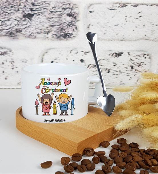Anasınıfı Öğretmeni Standlı Kahve Fincanı