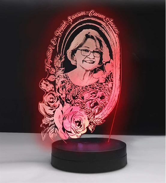 Anneler Gününe Özel Resimli 3d Led Gece Lambası