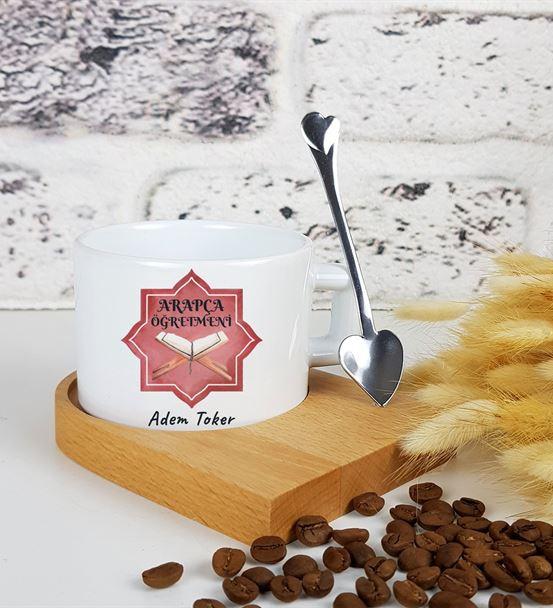 Arapça Öğretmeni Standlı Kahve Fincanı