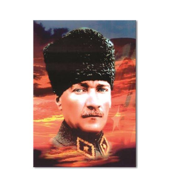 Atatürk Kalpaklı Kanvas Tablo 20x30cm