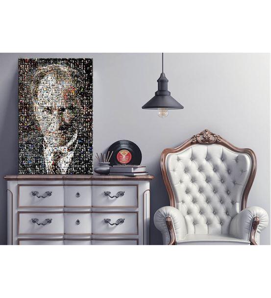 Atatürk Portre 2 Mozaik Kanvas Tablo 20x30cm