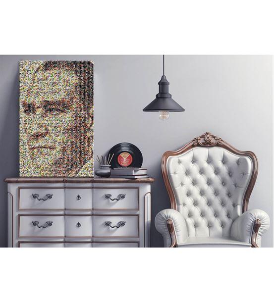 Atatürk Portre Mozaik Kanvas Tablo 60x90cm