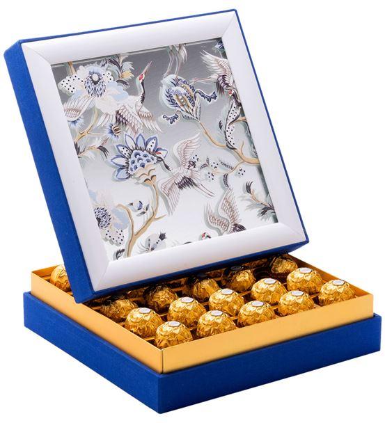 Aynalı Tavus Kuşu Çerçeveli Çikolata Kutusu