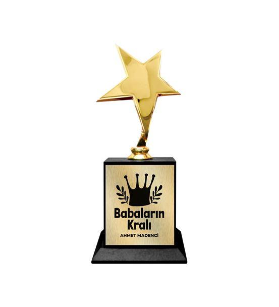 Babaların Kralı İsme Özel Yıldız Ödül Kupası Büyük