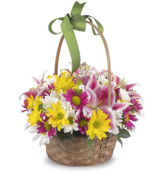 Bahar Esintili Çiçek Sepeti Aranjmanı