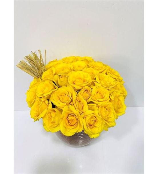 Bakır Design Mini Sarı Güller