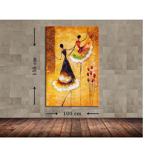 Balerin Kadın Büyük Boy  Kanvas Tablo 100x150 cm