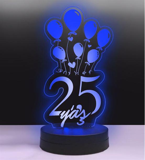 Balonlu Doğum günü Yaş Led Lamba
