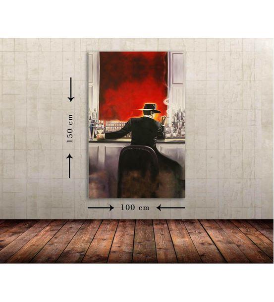 Bar Erkek Büyük Boy  Kanvas Tablo 100x150 cm