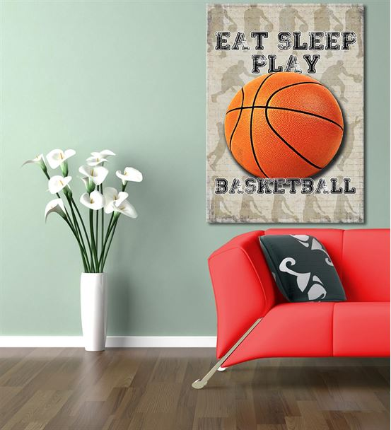 Basketbol Serisi A Kanvas Tablo 20x30 cm
