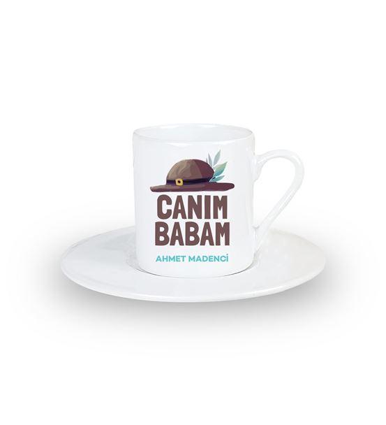 Canım Babam Kişiye Özel Türk Kahvesi Fincanı