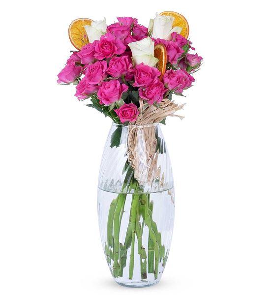 Carignan Serisi Sadelik Tasarım Pembe Beyaz Güller