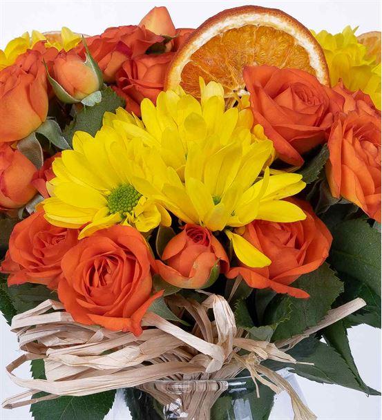 Carignan Serisi Sarı Papatyalı Çardak Güller
