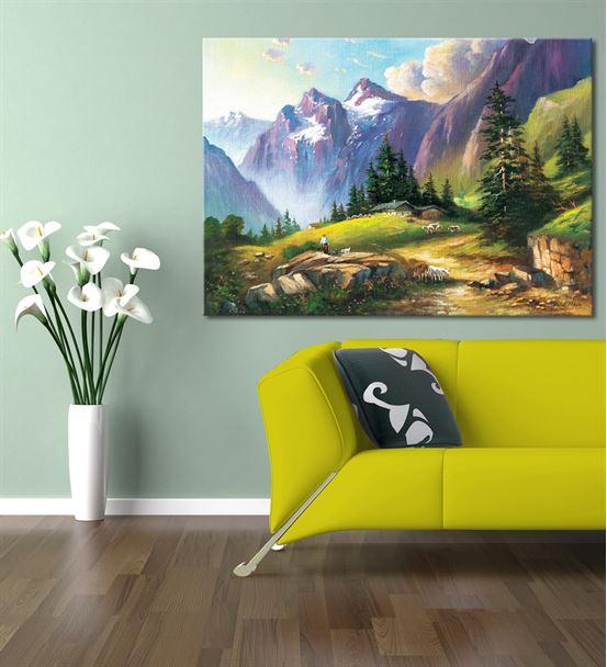 Dağ Manzarası Kanvas Tablo 20x30 cm