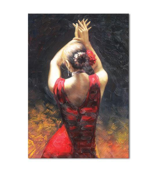 Dansçı Kadın Kanvas Tablo 20x30cm