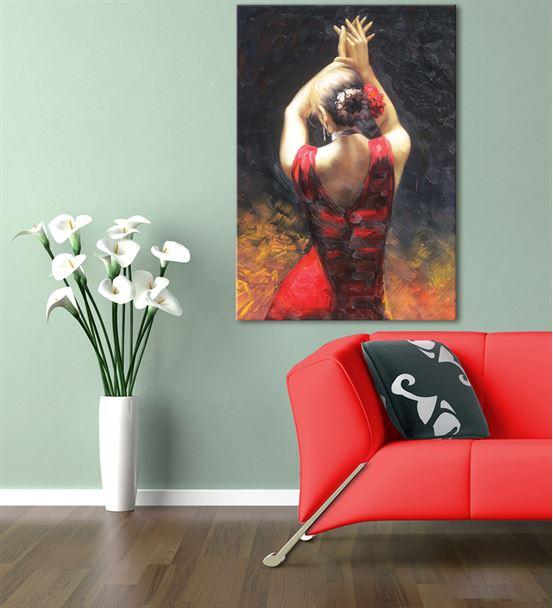 Dansçı Kadın Kanvas Tablo 50x70cm