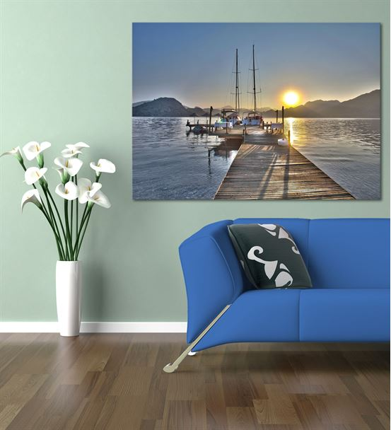Deniz Kenarı Serisi A Kanvas Tablo 60x90 cm