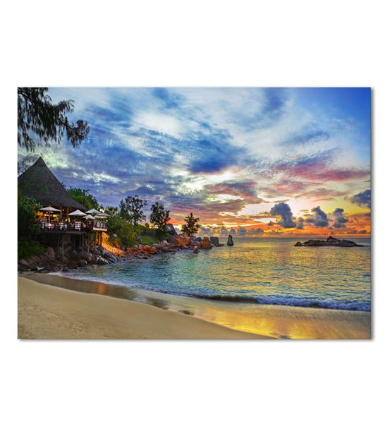 Deniz Kenarı Serisi B Kanvas Tablo 75x100 cm