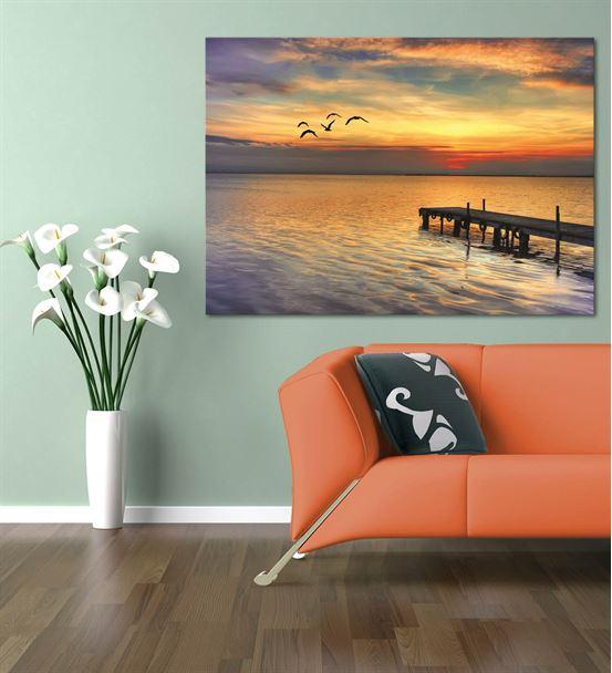 Deniz Kenarı Serisi C Kanvas Tablo 60x90 cm
