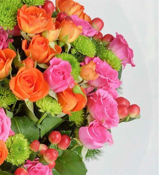 Deniz Kıyısı Renkli Çardak Güller