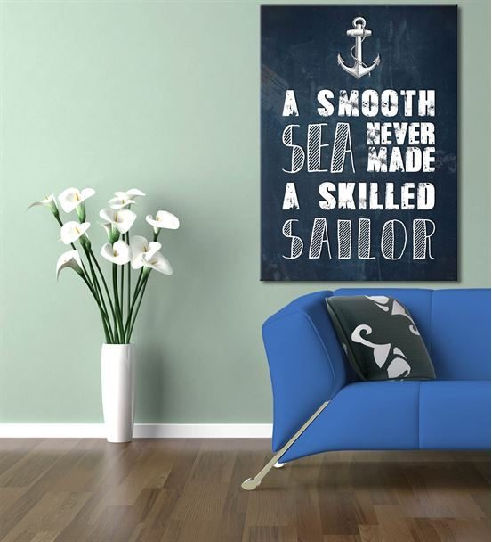 Denizci Kanvas Tablo 50x70 cm