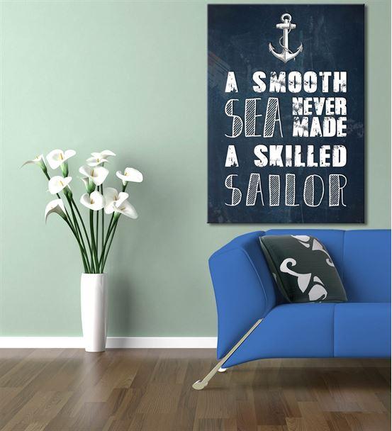 Denizci Kanvas Tablo 60x90 cm