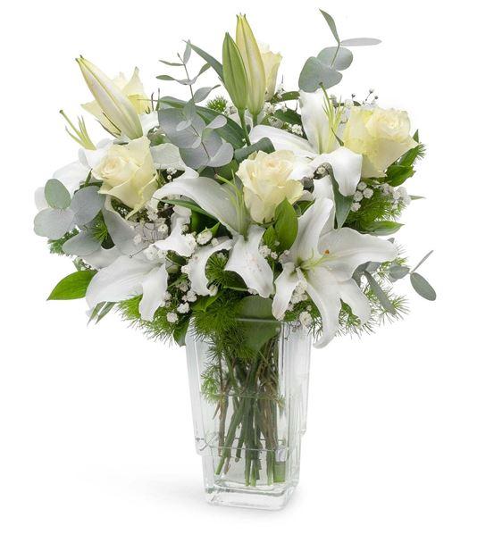 Dört Mevsim Lilyum ve Güller Aranjmanı
